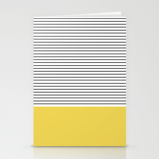 MINIMAL Green Stripes Stationery Cards