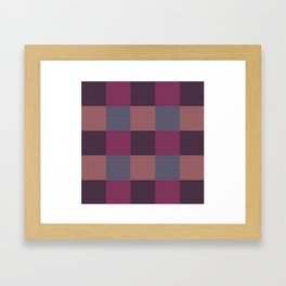 Chequered/Peach Framed Art Print