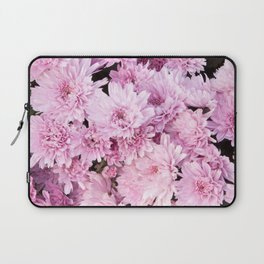 A Sea of Light Pink Chrysanthemums #1 #floral #art #Society6 Laptop Sleeve