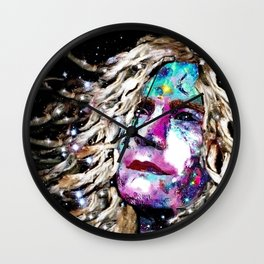 Robert Plant Watching the Stars - Rock Star Collection. Wall Clock