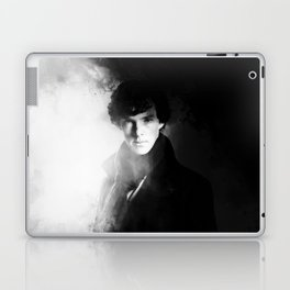 AMAZING SHERLOCK - BLACK & WHITE Laptop & iPad Skin