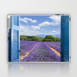 wooden shutters, lavender field Laptop & iPad Skin