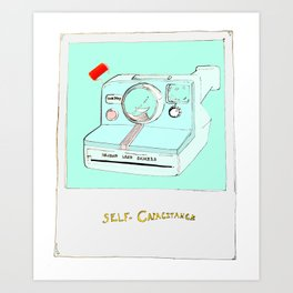 Self-Capacitance Polaroid Selfie Art Print