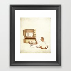 NES Cat  Framed Art Print