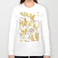 batik Long Sleeve T-shirts featuring Feathered Friends Batik by Rendra Sy
