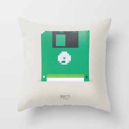 Pixelated Technology - Diskette Throw Pillow