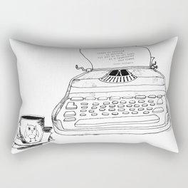 Earnest Hemingway Writing on Typewriter Rectangular Pillow