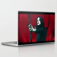 allison argent Laptop & iPad Skins featuring Allison - Deep In Red by xKxDx