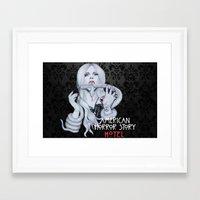 ahs Framed Art Prints featuring AHS: Hotel  by Diego Guzman