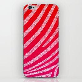 Hot Pink Red Ombre Glitter Zebra Stripe iPhone Skin
