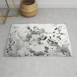 Abstract grey Rug