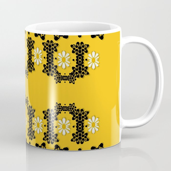 Ornate Circulate Is Festive In Flower Decorative Coffee Mug