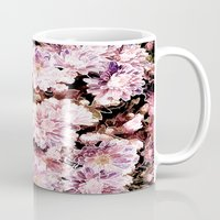 rose gold Mugs featuring Rose And Gold Floral by J&C Creations