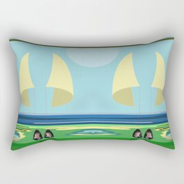 Soaring the Airs with May on a Relaxed Sunday - shoes stories Rectangular Pillow