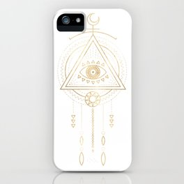 Mandala Golden Eye Geometric Tribal iPhone Case