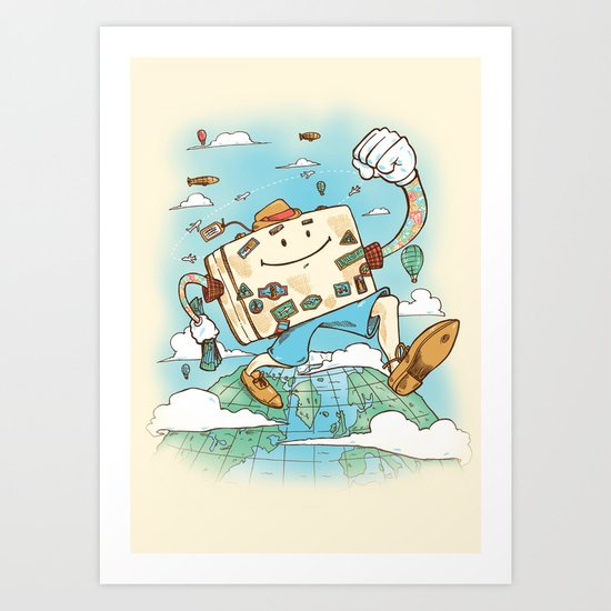 Mr Globetrotter Art Print