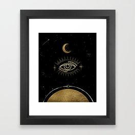 La Luna Evil Eye Framed Art Print