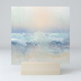Ocean Splash In The Sunset Mini Art Print