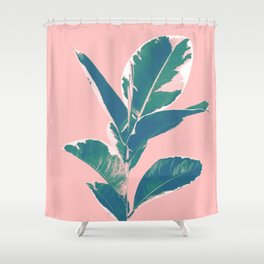 Ficus Elastica Finesse #3 #tropical #foliage #decor #art #society6 Shower Curtain