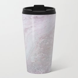 Elegant Pink Polished Marble Travel Mug