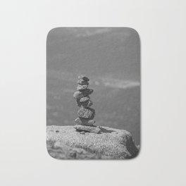 Rock balancing on the mountain Bath Mat