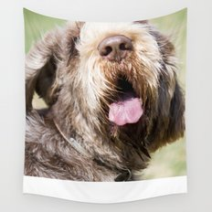 Brown Roan Italian Spinone Head Shot Wall Tapestry