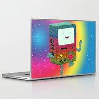 bmo Laptop & iPad Skins featuring BMO´s happy dance by Luna Portnoi