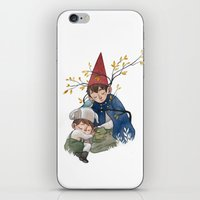 over the garden wall iPhone & iPod Skins featuring Over the garden wall by Rozenn