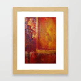 Abstract Art Color Fields Orange Red Yellow Gold Framed Art Print