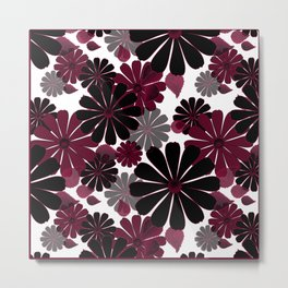 Abstract floral pattern .5 Metal Print