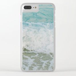 Ocean wave Clear iPhone Case