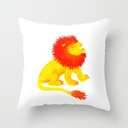 The Song of the Lion is Fire Throw Pillow