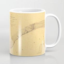 Map of Galveston Bay 1851 Coffee Mug