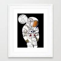 nasa Framed Art Prints featuring NASA Astronaut - Cristina Curto by Cristina Curto