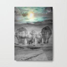 Elephants Graveyard Metal Print