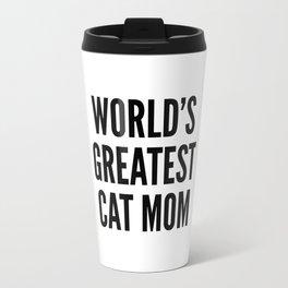 WORLD'S GREATEST CAT MOM Travel Mug