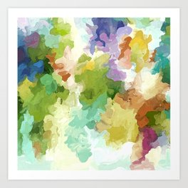 Cascadia: Abstract watercolor painting Art Print