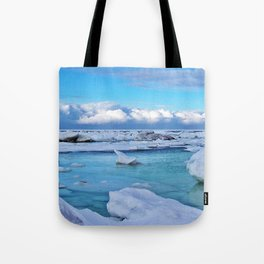 Frozen, and clouds on the Horizon Tote Bag