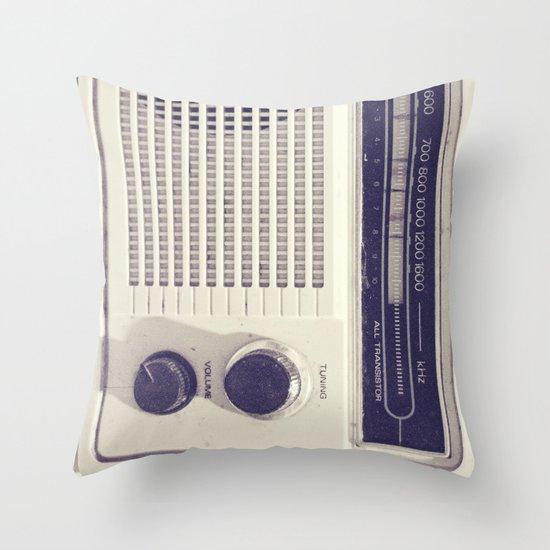 "on the radio... ""ANALOG zine""  Throw Pillow"
