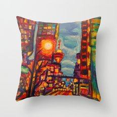Harbour West, Vancouver Throw Pillow