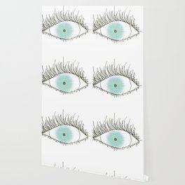 big beatiful blue eye, drawing about one eye of many color, art, Artistic , Abstract Wallpaper