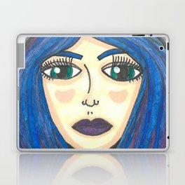 Fur Hooded Girl Laptop & iPad Skin