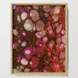 Abstract Painting - Marbling Art 03- Fluid Painting - Purple, Pink, Brown, Black - Modern Abstract Serving Tray