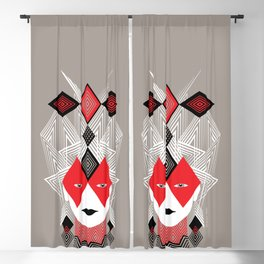 The Queen of diamonds Blackout Curtain