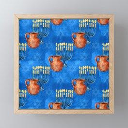 G-d Still Grants Hanukkah Miracles! Praying For Yours.... Framed Mini Art Print