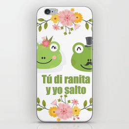 Frogs in love iPhone Skin
