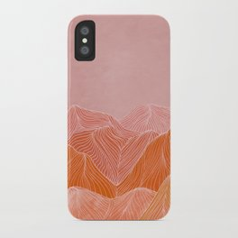 Lines in the mountains - pink II iPhone Case