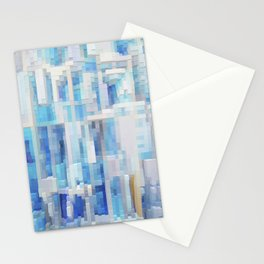 Abstract blue pattern 2 Stationery Cards