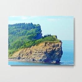 Cliffs of Perce Metal Print