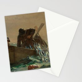 The Herring Net - George's Bank, New England maritime landscape by Winslow H-o-m-e-r Stationery Cards
